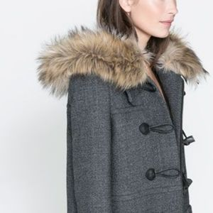 Michael Kors Hooded Wool Blend Toggle Coat
